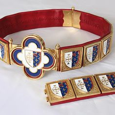 Knight's belt - LOUIS III d'Anjou coat of arms