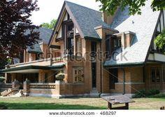 Frank Lloyd Wright Home & Studio, Oak Park, Illinois, ca Casas De Frank Lloyd Wright, Frank Loyd Wright Houses, Studios Architecture, Organic Architecture, Amazing Architecture, Historic Architecture, Residential Architecture, Wisconsin, Antonio Gaudi