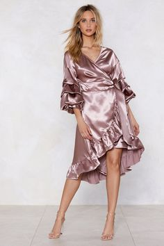 Nasty Gal Wearing and Tiering Satin Dress Cheap Dresses, Sexy Dresses, Dresses For Sale, Beautiful Dresses, Evening Dresses, Summer Dresses, Pink Dresses, Beautiful Ladies, Elegant Dresses