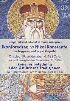 Painting Courses, Byzantine Icons, Ikon, Presentation, Oslo, September, Reading, Icons