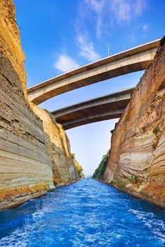 Photo about Corinth channel in Greece - travel background. Image of industrial, channel, nature - 15764100 Places Around The World, Oh The Places You'll Go, Places To Travel, Places To Visit, Around The Worlds, Corinth Greece, Corinth Canal, Paros, Viajes