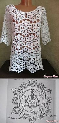 Transcendent Crochet a Solid Granny Square Ideas. Inconceivable Crochet a Solid Granny Square Ideas. T-shirt Au Crochet, Beau Crochet, Pull Crochet, Gilet Crochet, Mode Crochet, Crochet Tunic, Crochet Jacket, Crochet Diagram, Crochet Woman