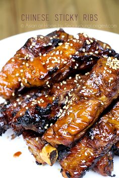 CHINESE STYLE STICKY RIBS    Recip & Video - Asian at Home NOTE: Grilling is the Last step & can be done on grill or grill pan