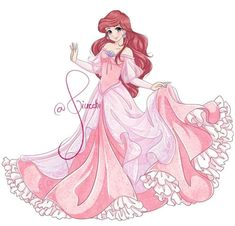 Ariel in Anime style Ariel Disney, Disney Princess Art, Disney Fan Art, Disney Girls, Disney Love, Disney Magic, Walt Disney, Equestria Girls, Powerpuff Girls