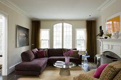brown and cream l shape sofa - Google Search