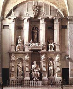 Tombeau de Jules II de Michel-Ange. 1545, Marbre