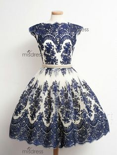 Vintage navy blue lace dress | Prom dress, bridesmaid dress.