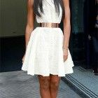 Kelly Rowland in Philip Armstrong - I don't think this dress is a flattering length for Kelly but I love the belt!