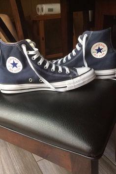 ☆ Navy blue converse ☆