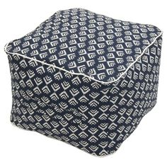 Threshold™ Outdoor Fabric Pouf - Navy for living room Outdoor Pouf, Outdoor Fabric, Outdoor Decor, Outdoor Living, Outdoor Ideas, Outdoor Spaces, Natural Weave, Framed Fabric, Expensive Houses