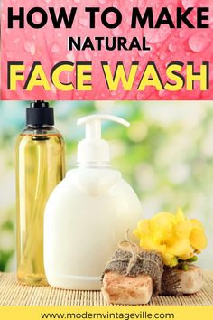 Natural homemade face wash is a healthy way to cleanse your skin.  It removes dirt, skin oil and impurities.  You can make a face cleanser with simple ingredients by following few recipes in this blog post. Homemade Face Cleanser, Organic Facial Cleanser, Homemade Face Wash, Homemade Facials For Acne, Diy Oil Cleanser, Homemade Beauty, Oil Face Wash, Acne Face Wash, Facial Wash