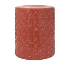 Orange Toned Ceramic Stool