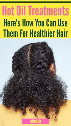 Hot Oil Treatments are a great way to deeply nourish and moisturize your hair. A hot oil treatment is very effective in moisturizing and softening dry natural hair, and it's really easy to do. Learn how a hot oil treatment works and how to do a DIY hot oil treatment for natural/black hair at home #hotoiltreatment #naturalhairgrowth