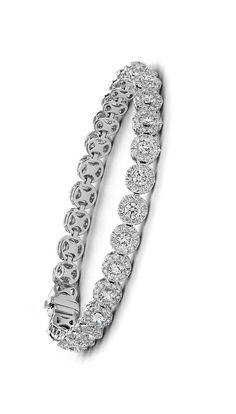 Diamond Halo Bracelet   Click for your chance to win a $1000 gift card from #BlueNile!