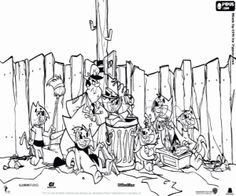 top cat cartoon coloring pages - photo#19