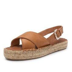 crossed camel bicolor espadrille espadrilles made in spain leather shoes sandals alohas hawaii Camel Sandals, Lace Up Sandals, Black Sandals, Wedge Sandals, Summer Sandals, Summer Shoes, Shoes Sandals, Platform Shoes Heels, Peep Toe Flats