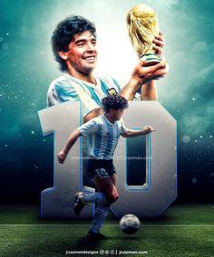 Diego Maradona World Cup God Of Football, Football Images, Football Icon, Best Football Players, World Football, Soccer Players, Football Soccer, Fifa, Maradona Tattoo