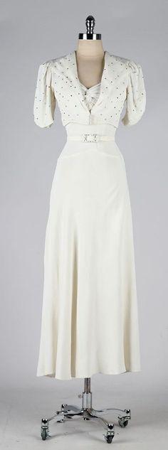 vintage 1930s dress . ivory wedding gown . by millstreetvintage