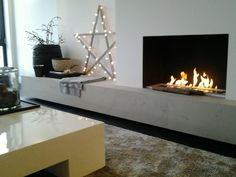 1000 ideas about ethanol fireplace on pinterest fireplaces electric fireplaces and portable - Deco moderne open haard ...