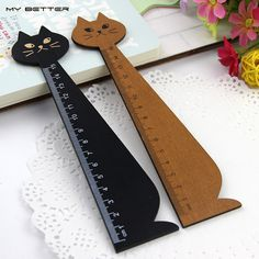 1 Pcs 15cm Wood Straight Ruler Black Yellow Lovely Cat Shape Ruler Gift for Kids School Supplies Wholesale #>=#>=#>=#>=#> Click on the pin to check out discount price, color, size, shipping, etc. Save and like it!