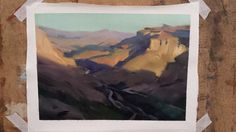 Landscape painting study based on a photo reference. Oil on board.