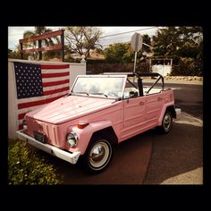 Pink VW Thing....hoping to own one of these in the near future :)
