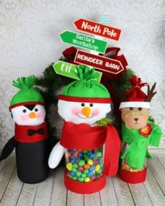 b4203a8bf Plush Candy Containers for Christmas DIY - Fairfield World Craft Projects