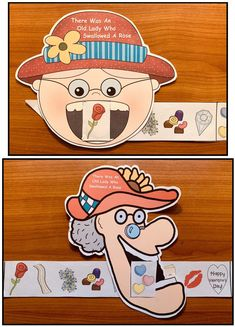 """Valentine Activities: Quick, easy & super-fun activities & Craft For """"There Was an Old Lady Who Swallowed a Rose"""". Great way to help children practice the """"sequence & retell a story"""" standards. Patterns also comes in BW."""