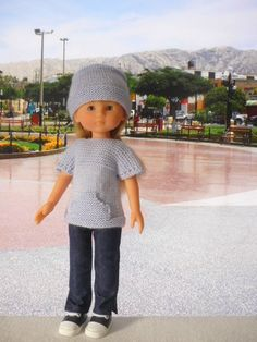 Tuto tunique et bonnet pour poupée de 33 cm - Lignes de Nazca (1)