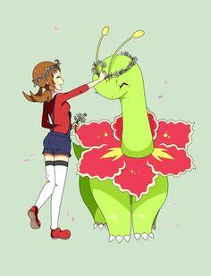 Lyra and Meganium