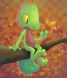 Treecko. Don't forget to like this Pokemon Facebook page for more cool Pokemon content: http://www.facebook.com/shinydragonairx
