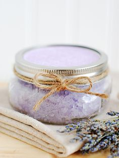 Homemade Lavender Bath Salts - Plus 9 other DIY Beauty Recipes for the Bride