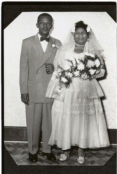 Mr. and Mrs. Brown's wedding photograph taken December 1940