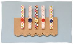 Transform plain clothes pegs into adorable clips for hanging photos, decorating a notice board or for use in gift wrapping...