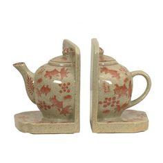 ACHICA | Oriental Illuminations Teapot Bookends