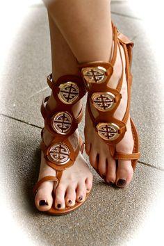 NanaMacs Boutique - Camel Burch Gladiator Sandals