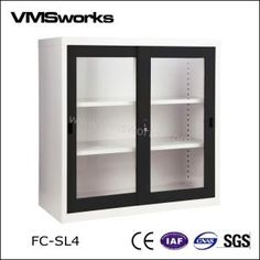 China Office Furniture,Filing Cabinet,Half Height Swing Glass Door Office  Filing Storage Cabinets