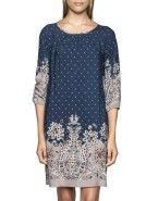 Pleat Paisley Dress