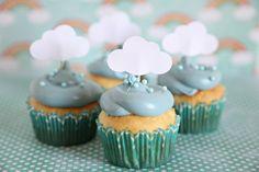 rainy day themed food | Baby Shower Theme, Cloud Cupcake Toppers, Rainy Day theme, Showers, up ...
