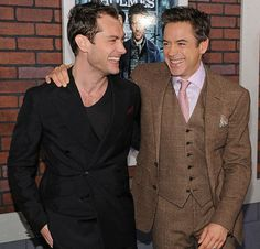 Jude Law and Robert Downey Jr.