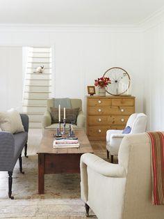 A no-frills look for a living room.