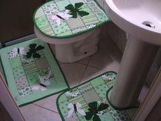 molde jogo de banheiro em tecido patchwork - Bing Imagens