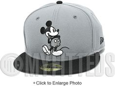 Mickey Mouse Classic Mickey Logo Carbon Graphite Grey Jet Black White Disney New Era Hat