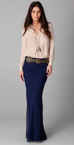 haute hippie (marianne skirt + bib blouse)