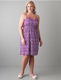 Plus size Ruffled batik sundress