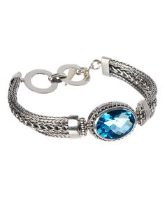 Look at this Blue Topaz & Sterling Silver Bracelet on #zulily today!