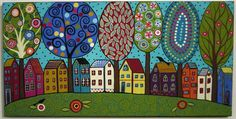 folk art houses - Google Search
