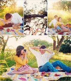 Picnic photo shoot. The light in these photos is breath taking!