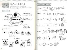 Easy & Lovely Illustrations of 3 Colored Ball-Point Pen - Japanese Drawing Book - Nao Sakamoto - B892.