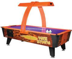 Fire Storm Home Non-Coin Air Hockey Table From Dynamo